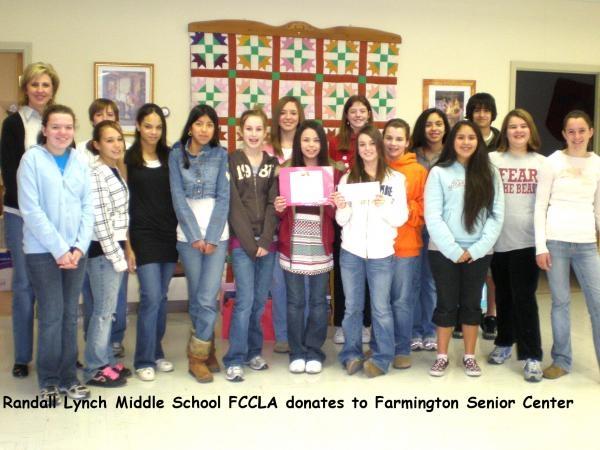 Randall Lynch Middle School FCCLA Chapter, Farmington, Arkansas