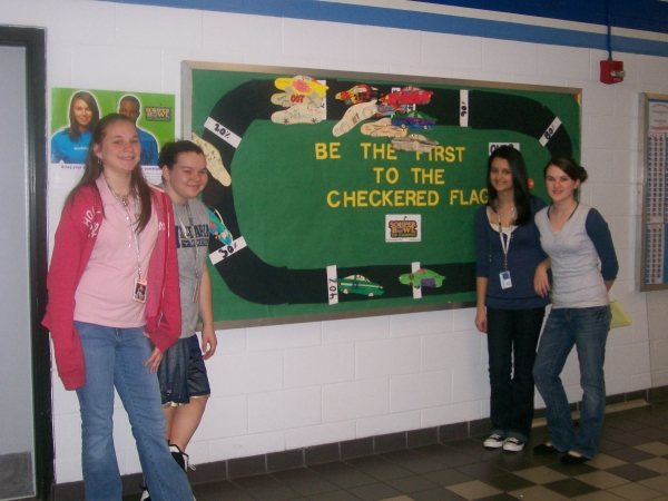 Here is our Bulletin Board.  The kids loved this especially there teams car