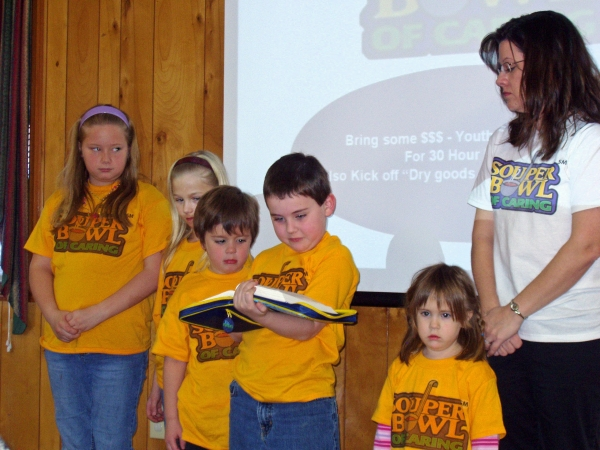 Souper Bowl - Scripture Being read before church