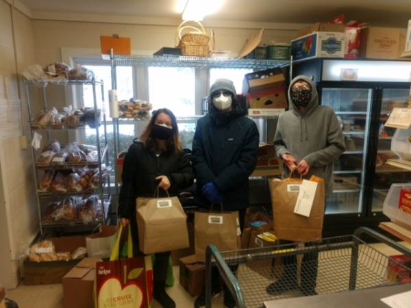 Delivering our 200 lbs of food!