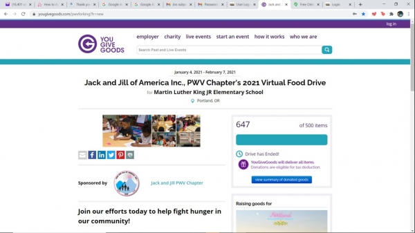 You Give Food - Virtual Food Drive