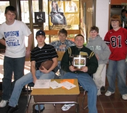 Allleuia! Boys Collecting during our annual Super Bowl Pancake Breakfast.