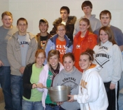 most of our youth group with our soup pot