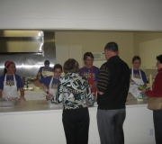 The Godfollowers Youth Group serving up a Souper Bowl Spaghetti Dinner!