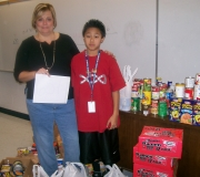 Winning Team Sonic Hawks This student alone brought in 178 Cans
