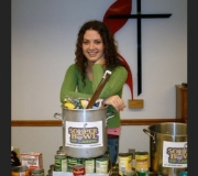 Souper Holly with Souper donations from Oak Hill United Mehodist Church