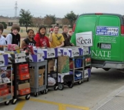 Creek Valley Students help load the CCA van
