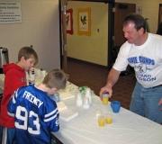Alleluia! Men\'s Group serving during our annaul Souper Bowl Pancake Breakfast.