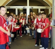 St Titus Catholic Youth Organizaton Collects for the Souper Bowl of Caring 2007