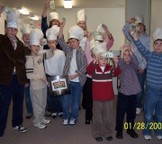 Clear Lake Lutheran youth presented a Souper Bowl of Caring skit to encourage congregation to donate to Souper Bowl of Caring