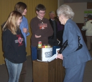 NUMY collecting donations for the Souper Bowl of caring.