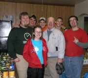 Group that delivered our collected food items.
